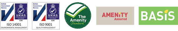 ISO 14001 Certified   |   ISO 9001 Certified   |   The Amenity Standard   |   Amenity Assured   |   Basis